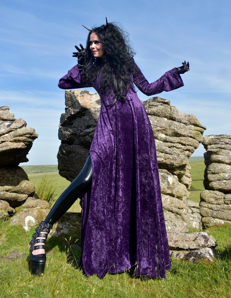Ritual Hooded Dress from www.moonmaidengothicclothing.co