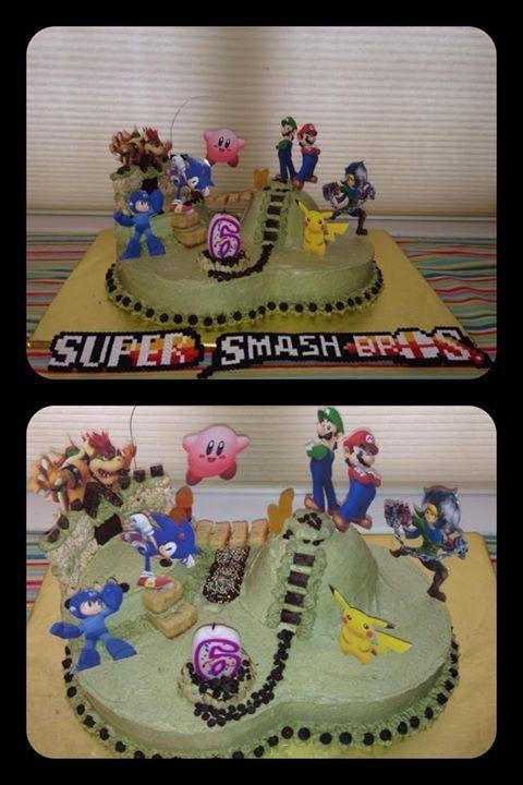 Super Smash Brother S Bros Themed Birthday Cake Dairy