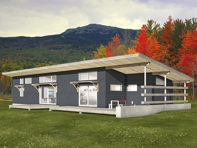 This one story FreeGreen home is designed for high energy efficiency