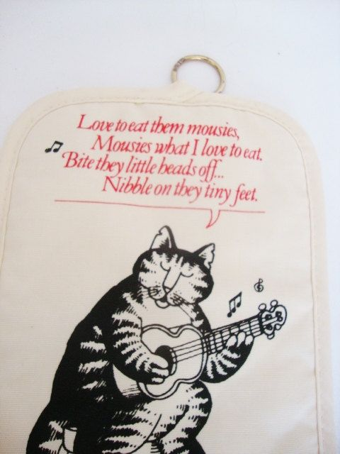 Kliban Cat Love To Eat Them Mousies Print