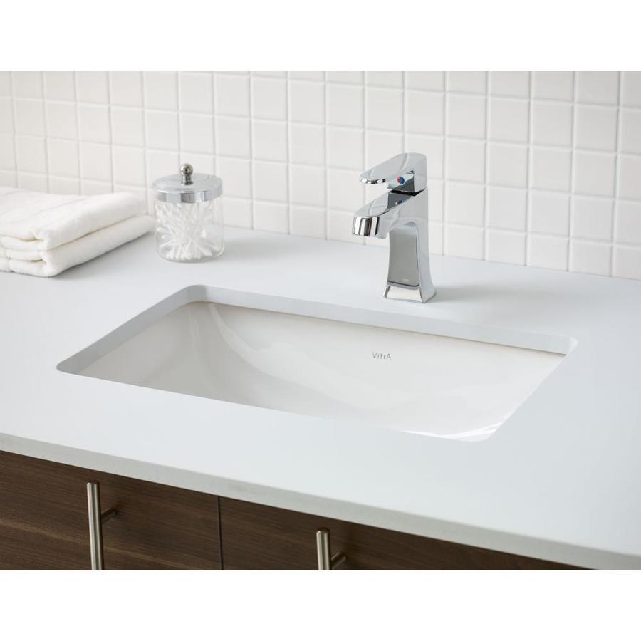 Cheviot Seville Undermount Basin White Porcelain Undermount Rectangular Bathroom Sink With Overflow Drain 14 63 In X 21 63 In Lowes Com Rectangular Sink Bathroom Undermount Sink Undermount Bathroom Sink