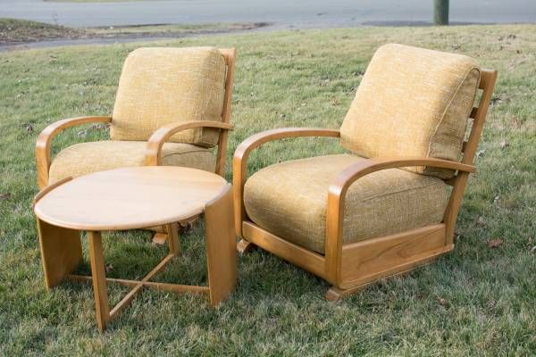 Heywood Wakefield Early Modern Chairs, Coffee Table Streamline Maple.  Craigslist. Asking: $900
