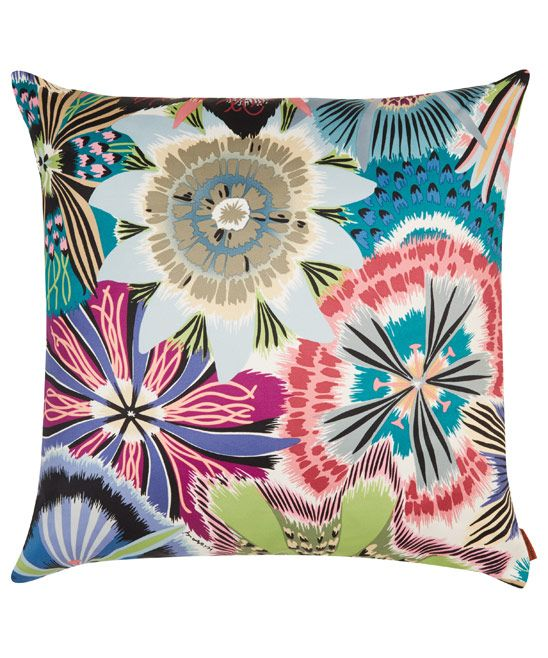 Missoni Home Blue Passiflora Cushion Pillows Printed