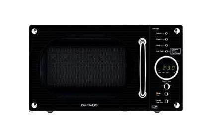 Daewoo Retro Microwave Oven 23 Litre Black Microwave Oven