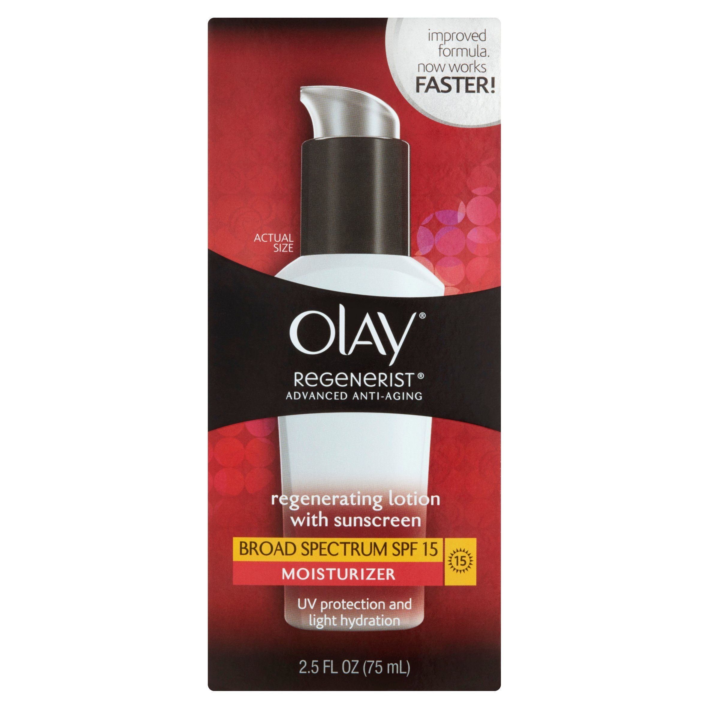 Olay Regenerist Regenerating Face Lotion Moisturizer with Broad Spectrum SPF 2.5 Fl Oz Boudreauxs Baby Kisses Lip and Cheek Moisturizer 10 g (Pack of 6)