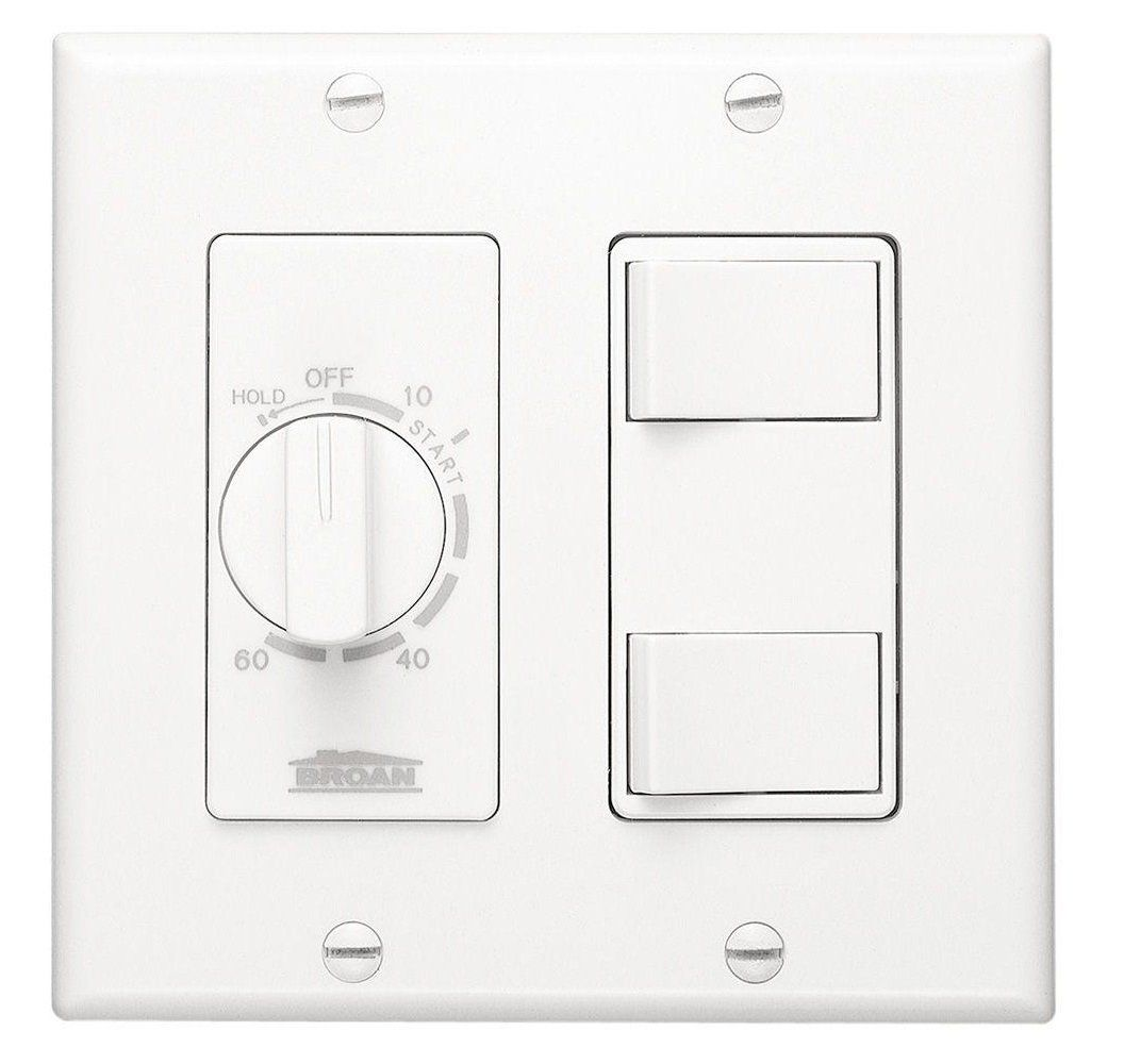 Broan 62W 60 Minute Time Control With 2 Rocker Switches