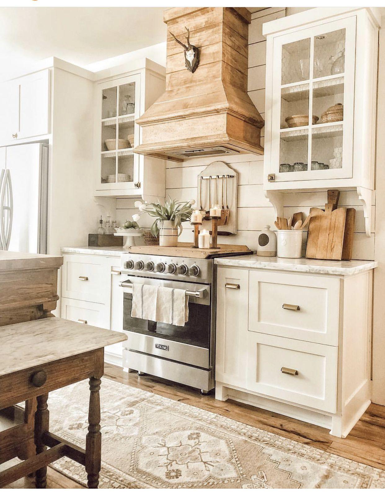 Love This Natural Wood Stove Hood Kitchendesign Kitchenideas Rustic Kitchen Cabinets Rustic Kitchen Home Kitchens