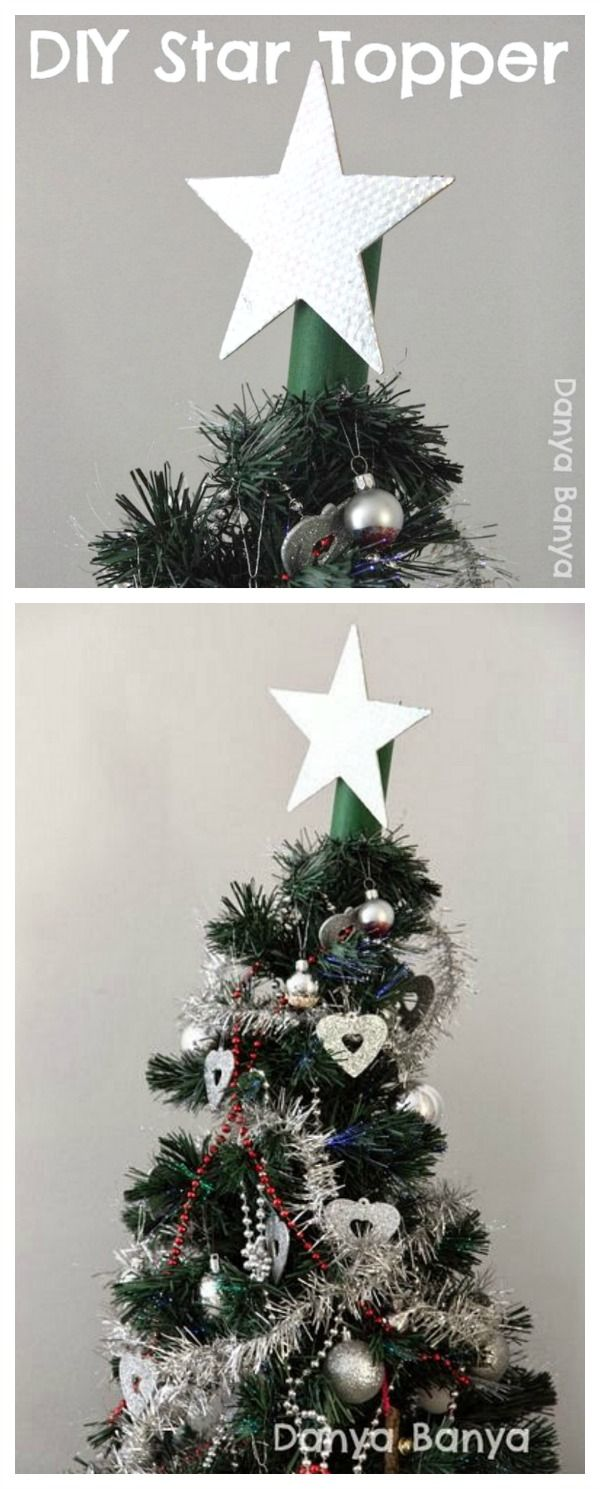 Diy Light Weight Star Topper For Your Christmas Tree That Kids Can Help Make