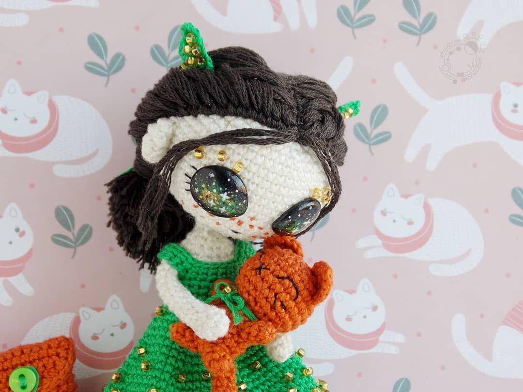 zaczarowaneszydelko doll ❤Lila❤ no pattern #dolls #amigurumi ... | 810x1080