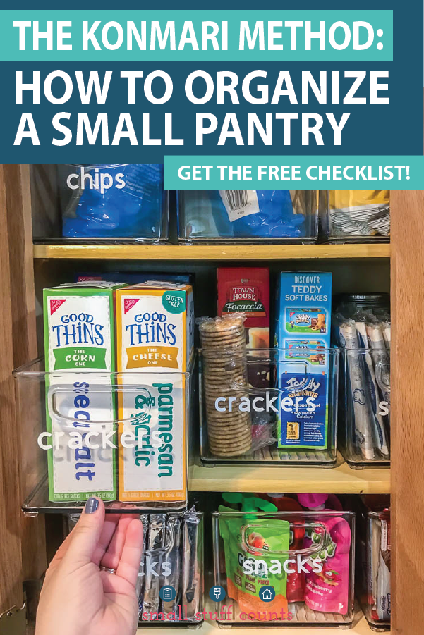 Organizing A Small Pantry With The KonMari Method + Free Checklist
