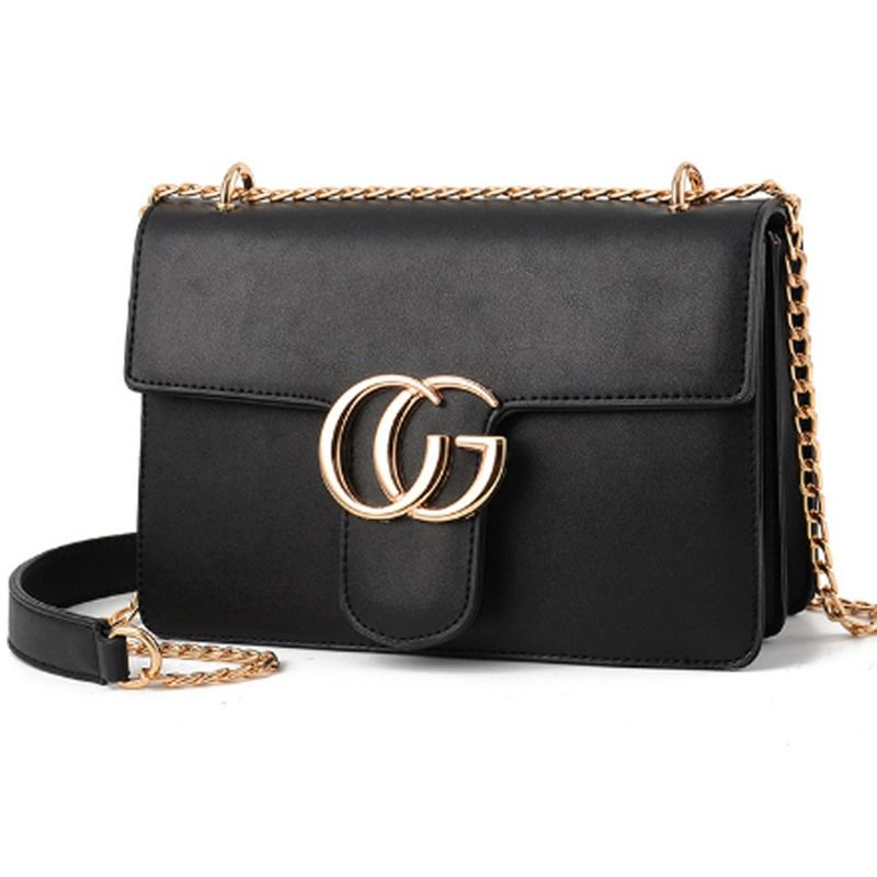 83837b0d8d93 Women Handbag Luxury Designer CG Solid Bag Flap Gold Chain Cross-body Bags  HQ  LFS  MessengerCrossBody