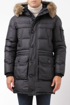 best sneakers f0ed7 b846c Moncler down parka affton blue piumino parka affton blu ...