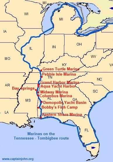Cruising the Tennessee - Tombigbee Waterway, America's Great ... on great lakes sailing, caribbean sailing, the great loopers,