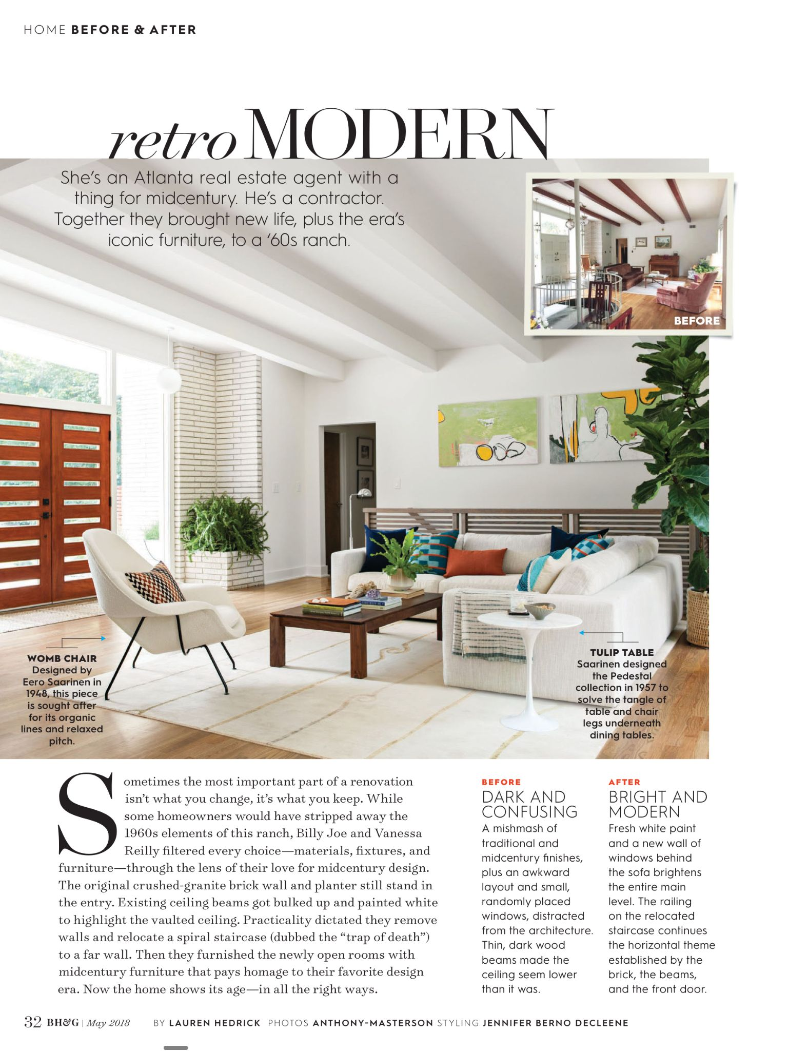 Retro Modern From Better Homes And Gardens May 2018 Read It On The Texture App Unlimited Access To 200 Top Magaz Formal Living Rooms Iconic Furniture Home