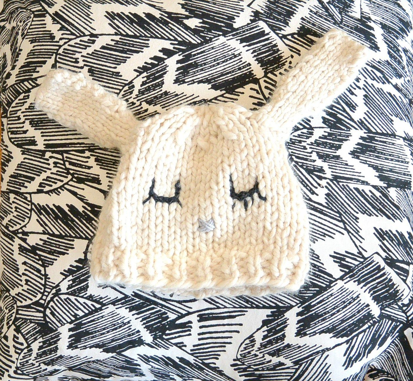Wool Knit Rabbit Hat | Gorros- Hat. Cuellos. Bufandas | Pinterest ...