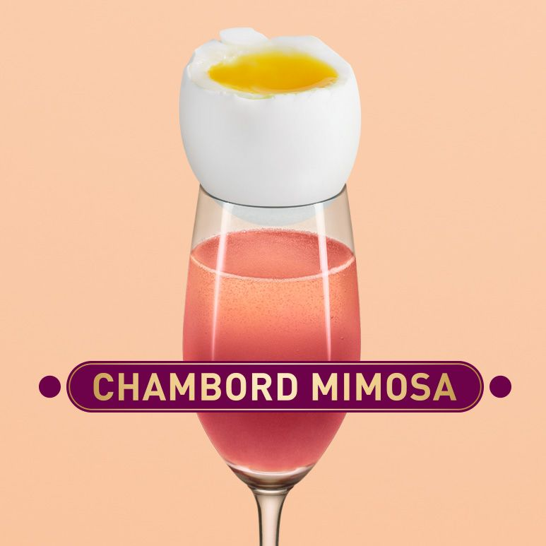 Chambord Mimosa Cocktail