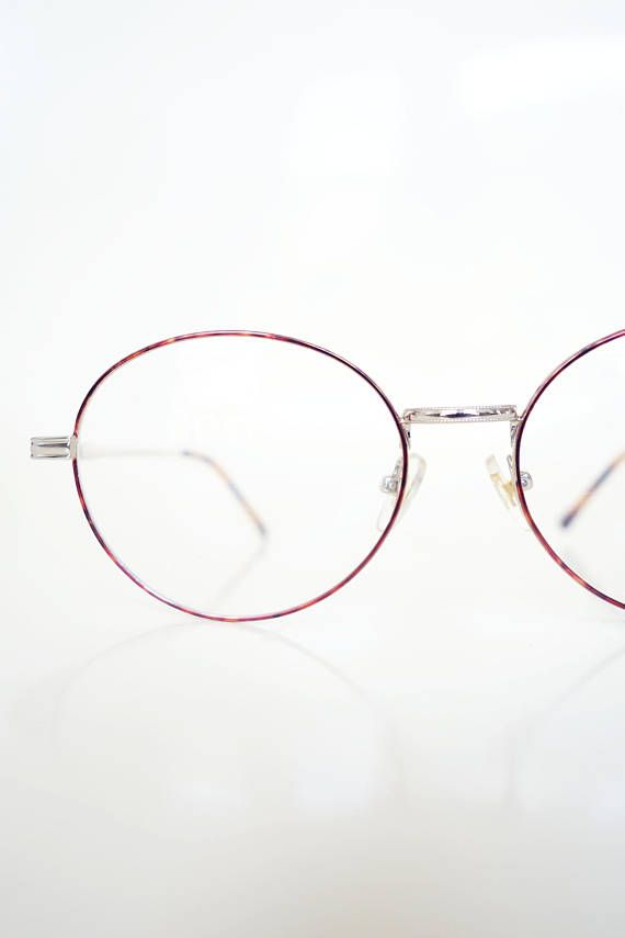 Mens Round 1980s Eyeglasses - Round Wire Frame Glasses - Round Gold ...