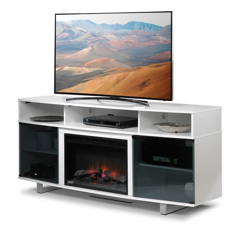 Sorenson Fireplace Tv Stand White In 2020 Fireplace Tv Stand