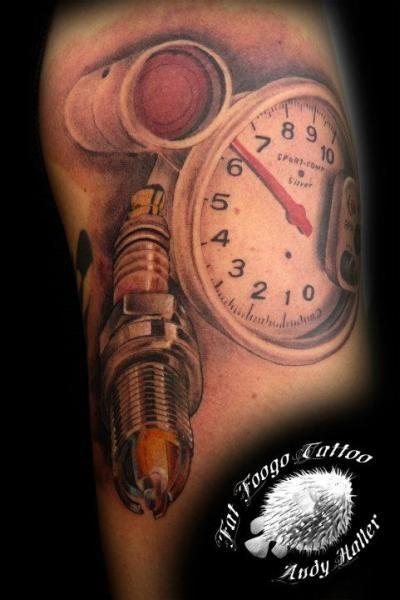 Tach Tattoo Tattoos For Guys Car Tattoos Cool Tattoos