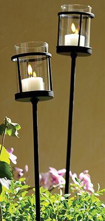 Garden Votive Stakes Outdoor Candles Candle Holder Garden Outdoor Candle Holders