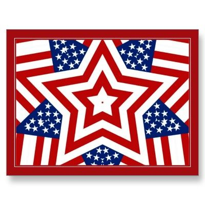 Red White  Blue Star Design to Add Text Postcards byRedWhiteAndBlue1   - SOLD 6-23-12 Shipping to Eastlake, OH - #zazzle #redwhiteandblue #postcard