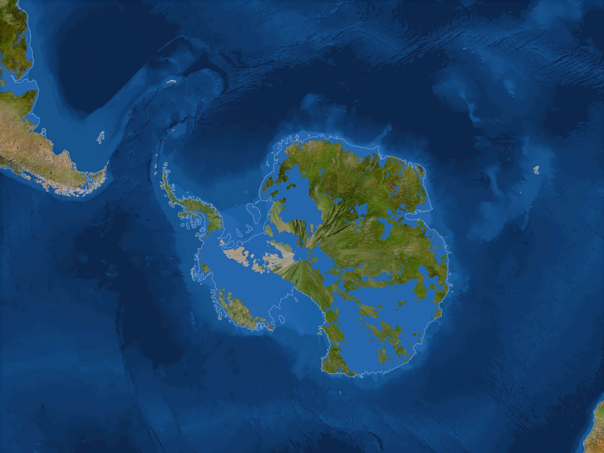 New Coastlines If All The Ice Melted Sea Level Rises 216 Feet Antarctica