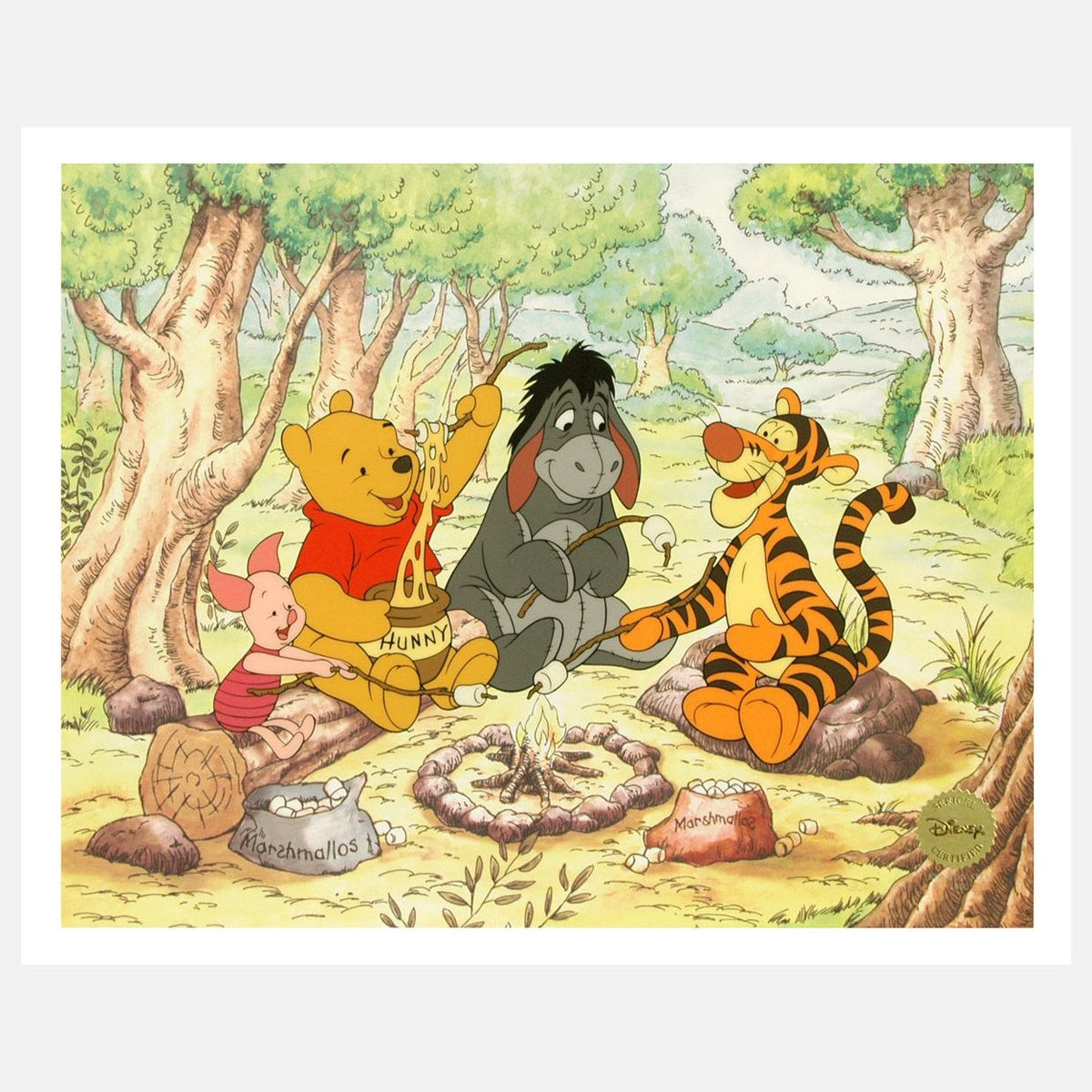 Campfire Pals Wall Art - features Winnie-The-Pooh, Tigger, Piglet ...