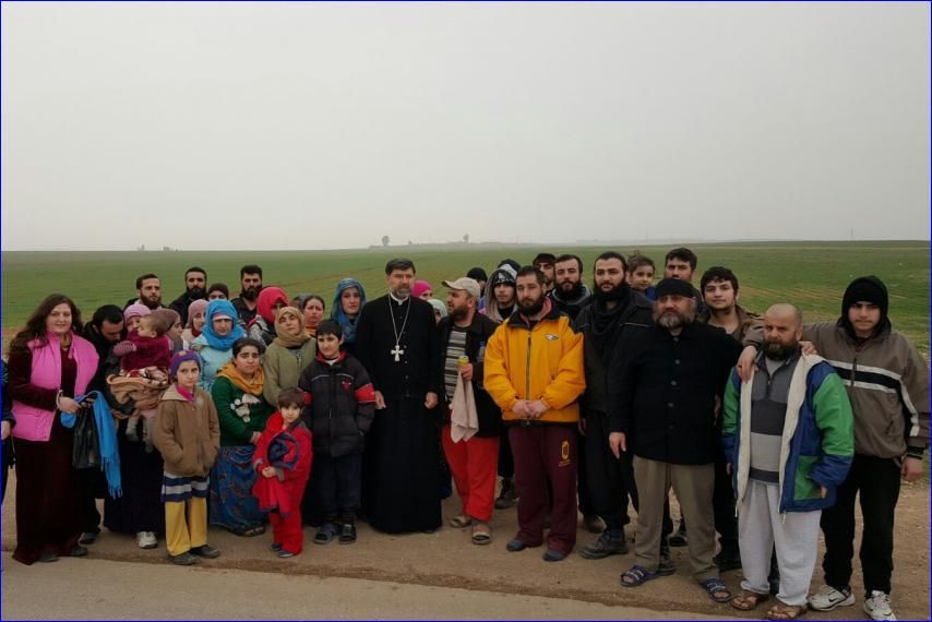 ISIS today released 43 Assyrian hostages in Syria who were captured captured on February 23 when ISIS attacked the 35 Assyrian villages on the Khabur river in the Hasaka province. According to the Assyrian Church of the East, there are no more Assyrians from Khabur being held by ISIS. However, ISIS is still holding 179 Assyrians it captured in the town of Qaryatain on August 6, 2015. Fearless Mar Aprem Nathaniel stands with his flock