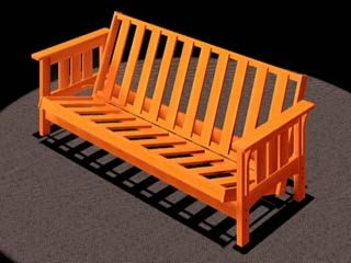 How too build a futon frame click to download diy for Mission style bed frame plans