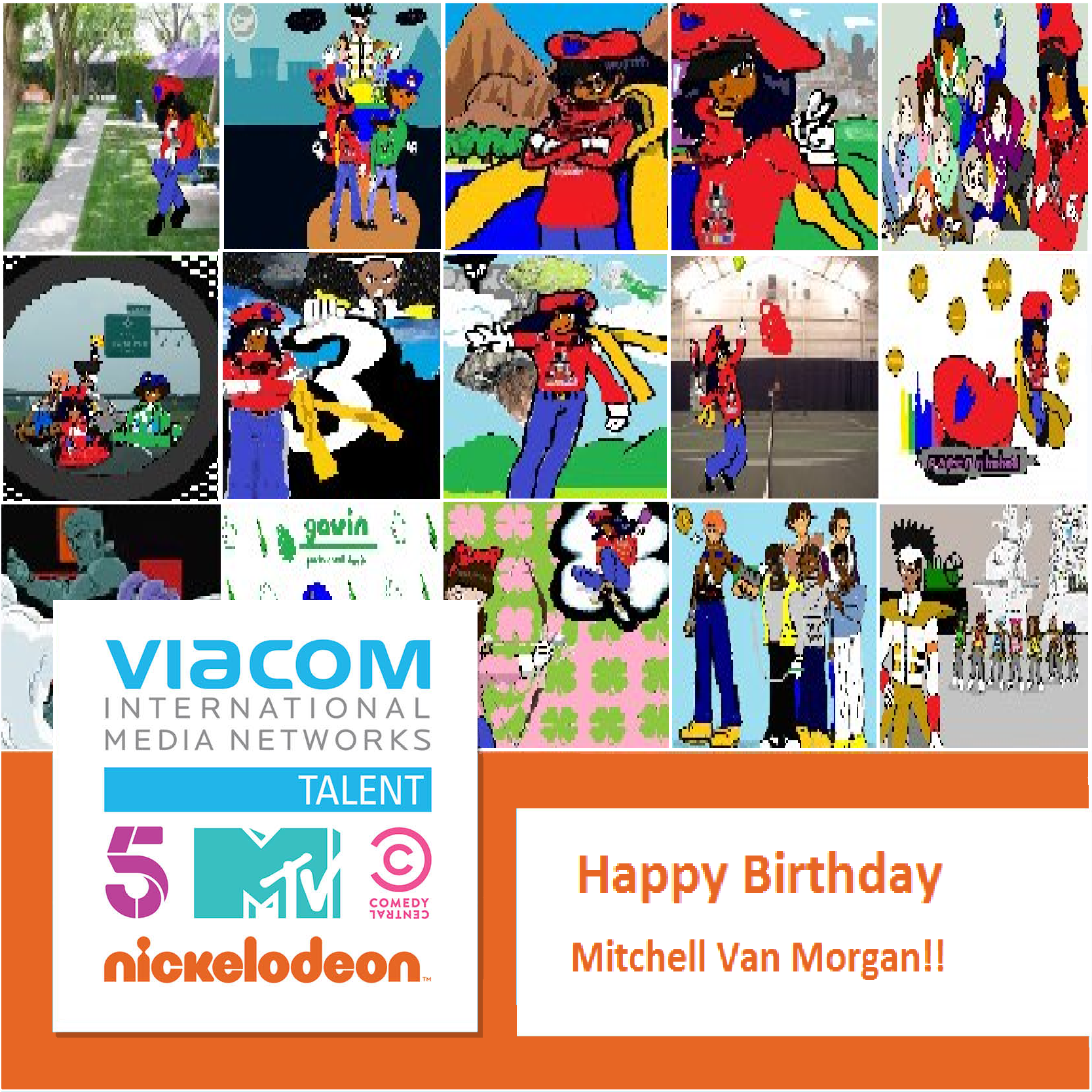 Here S A Very Cool Message For Mitchell Van Morgan On His 20th Anniversary From The Viacom Talent Team Cool Messages 20th Anniversary Happy Birthday