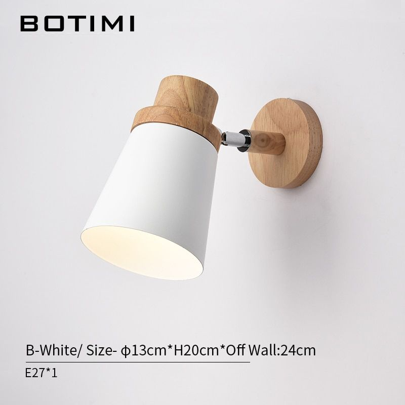 Online Shop Botimi Nordic Led Wall Lamp For Bedroom Reading Wall Sconce Bedside Luminaira Modern Wood Wall Lamps Bedroom Wall Light Fittings Wall Mounted Light