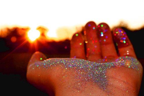 Glitter Raining Down | Some girls were just born with glitter in their veins.