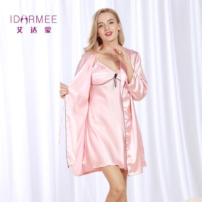 10293b74784c IDARMEE S1017 Women Luxurious Robe Gown Sets New Design Bath Robe Female  Sleepwear Nightgowns Suspender Dress