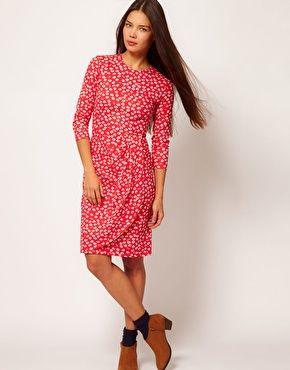 People Tree Organic Cotton Floral Wrap Dress