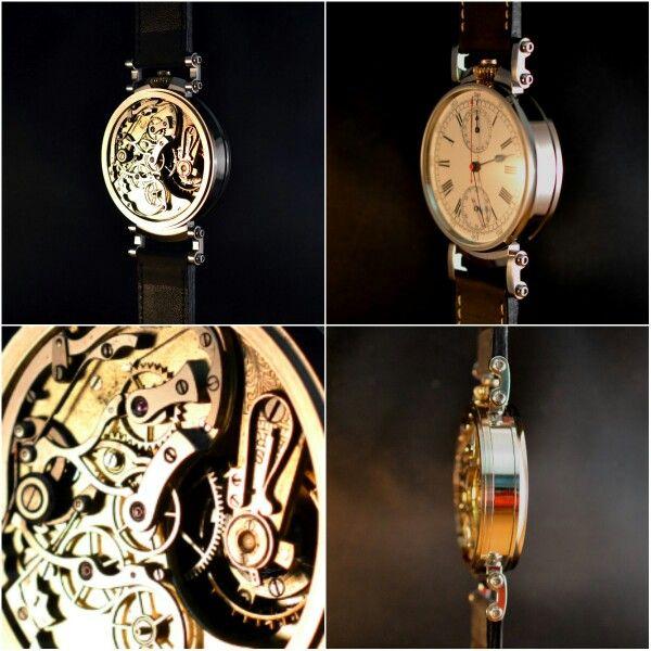 Eine Taschenuhr wird zur Armbanduhr! #watch #omega #chronograph #pocketwatch #clock #watchoftheday #unikat