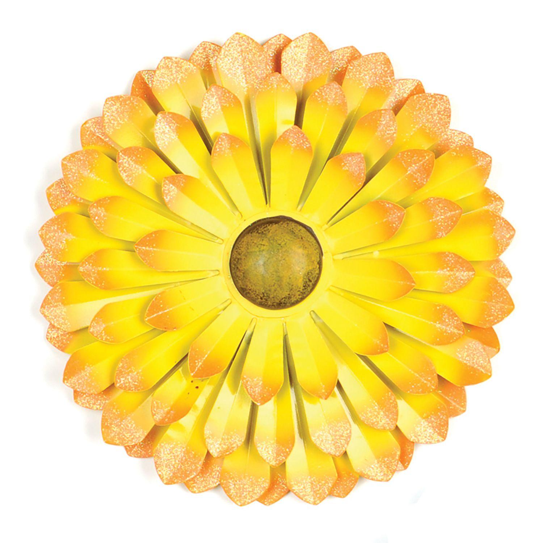 Yellow Metal Flower Wall Plaque 9 99 Kirklands
