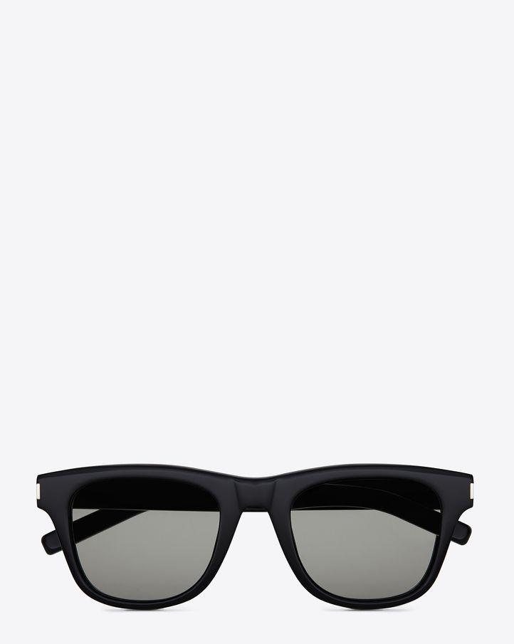 3c32d8cad3f Saint Laurent Classic 2 Sunglasses In Black Acetate With Grey Green Lenses  | ysl.com