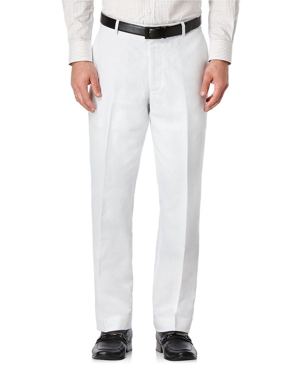 La Baie | Men | Suits & Tuxedos | Solid Linen-Cotton Pants | Hudson's Bay