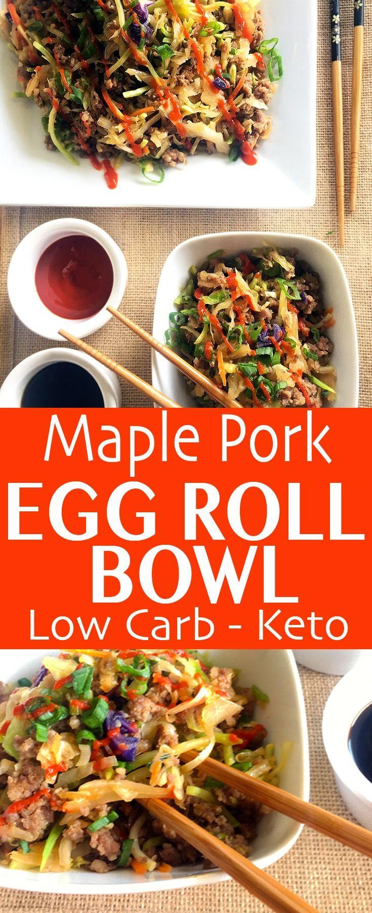 Maple Pork Egg Roll Bowl #porksausages