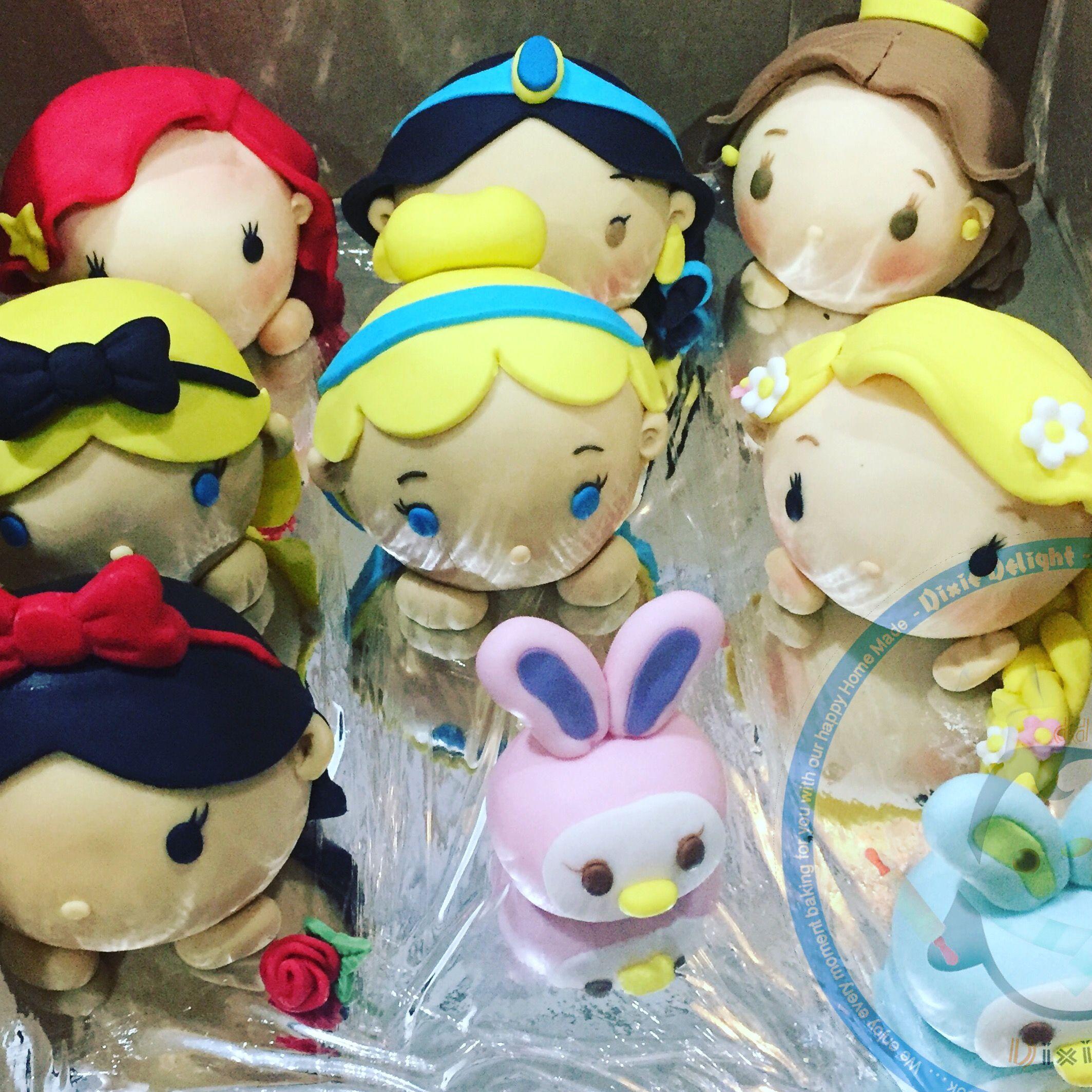 Tsum tsum princess fondant figures