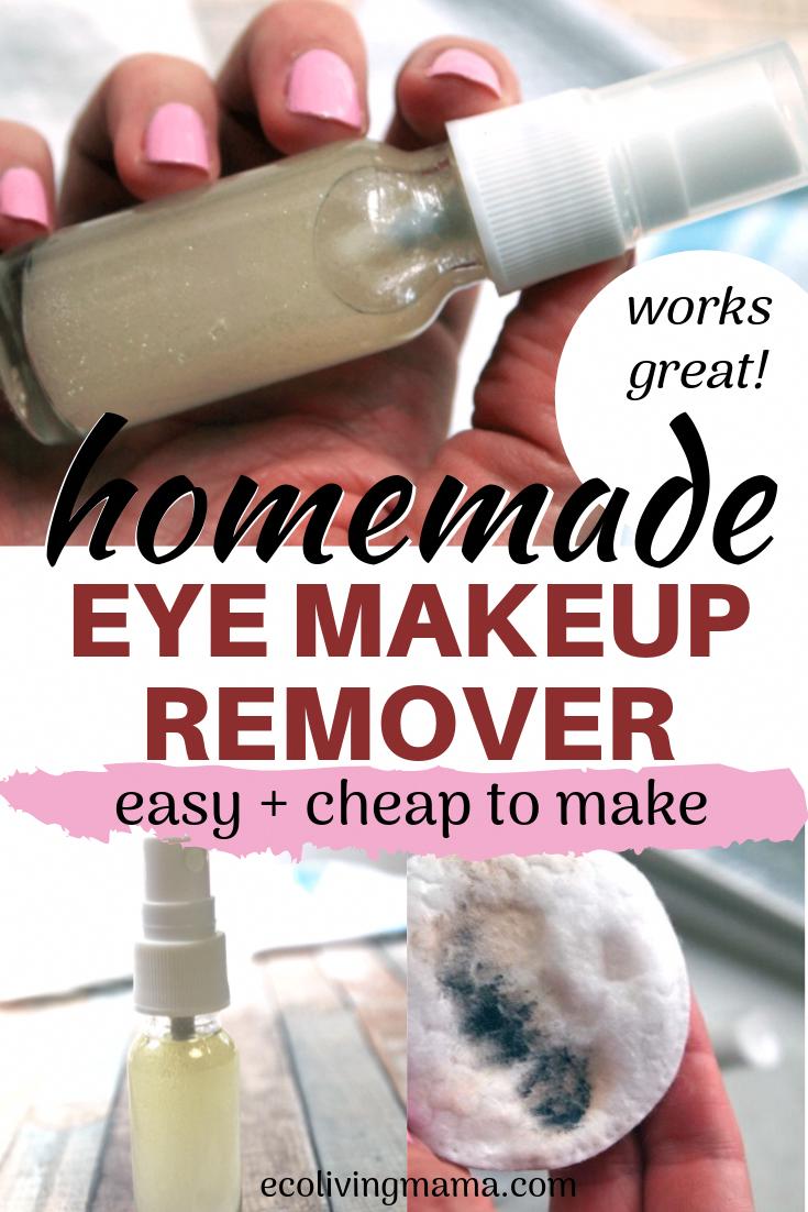 Homemade eye makeup remover could not be any easier to