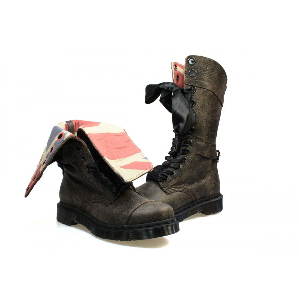 Dr. Martens Triumph 1914 Womens Boots with Union Jack lining
