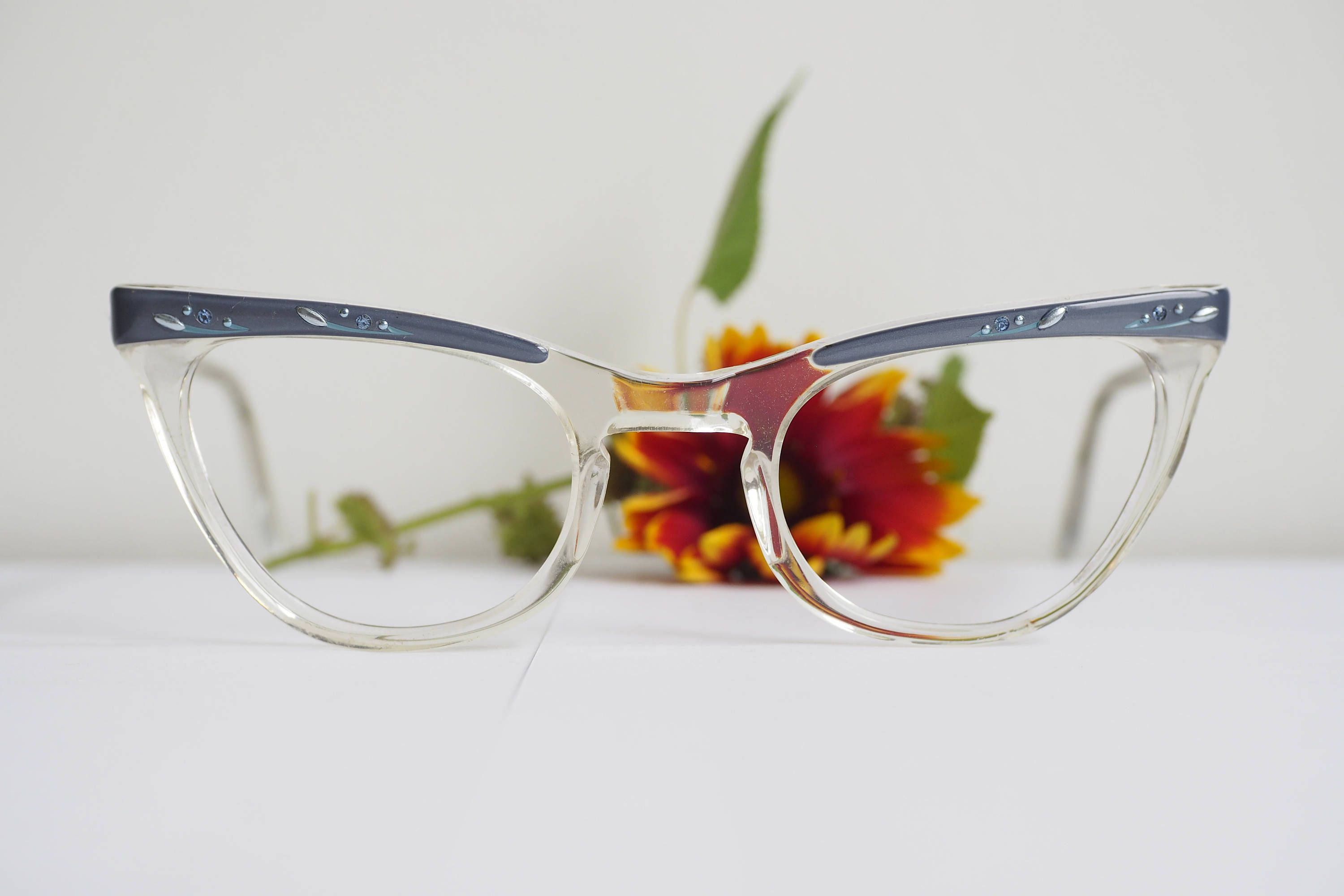Vintage Cat Eye Glasses 1960\'s Cateye Frames By Shuron Two Tones ...