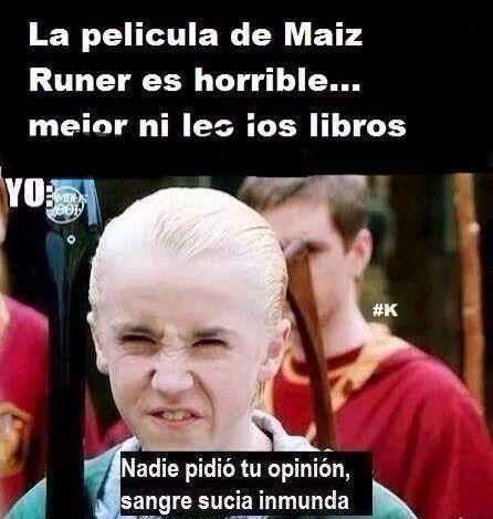 Ni Siquiera Saben Decirlo Bien Y Lo Paran Criticando Memes De Libros Harry Potter Gracioso Fans De Harry Potter