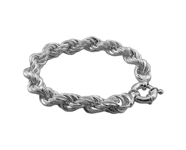 BT1549 chunky sterling silver rope bracelet http://www.tianguis.co.uk/shop/index.php/sterling-silver-wristwear/bt1549-chunky-sterling-silver-rope-bracelet.html