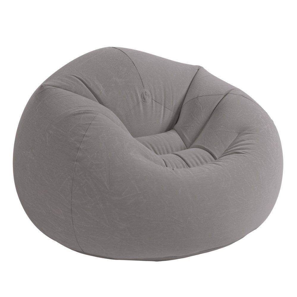 Superb Details About Beanless Bag Inflatable Chair Soft Fabric Pabps2019 Chair Design Images Pabps2019Com