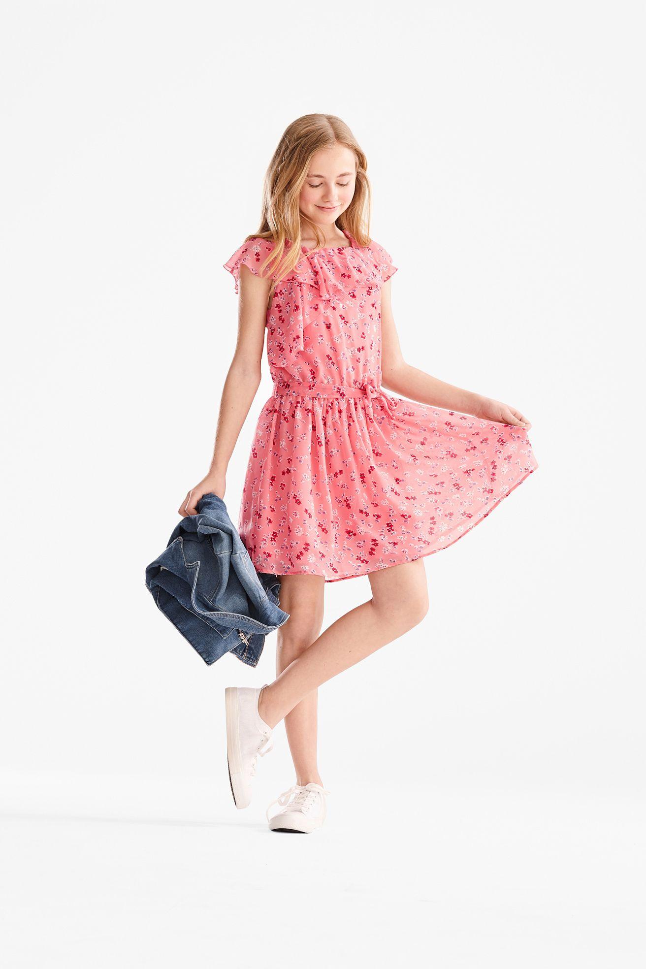 Chiffonjurk Chiffonkleid Sommerkleid Chiffon Kleid