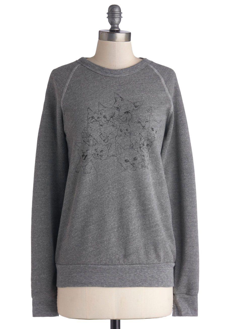 Queen of the Wildcats Sweatshirt, #ModCloth