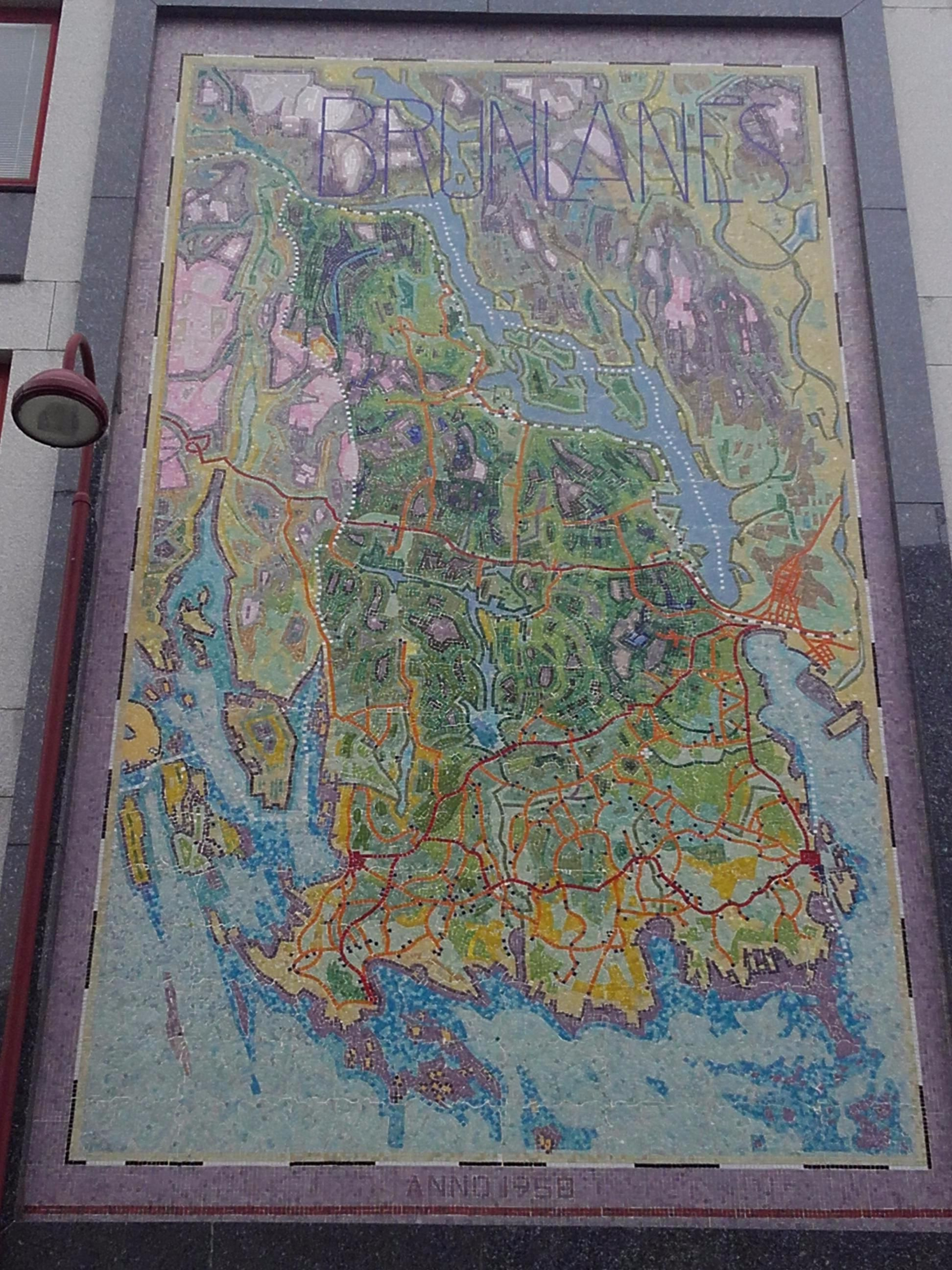 Mosaic Map Of The Brunlanes Area In Larvik Norway MAPS - Norway map larvik