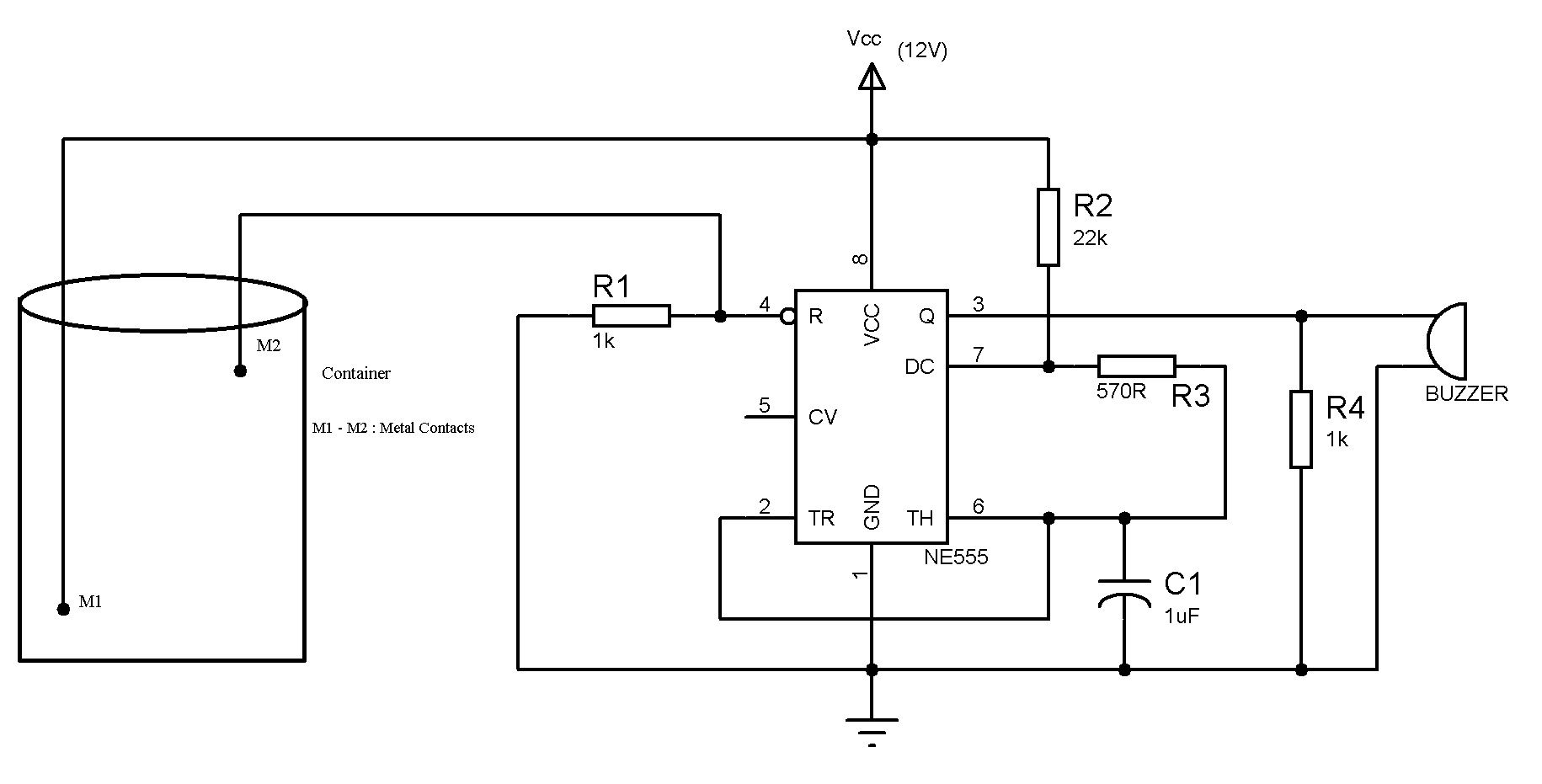 in addition water level alarm circuit on simple alarm circuit water level sensor detector monitor with alarm circuit schematic [ 1831 x 931 Pixel ]